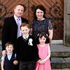 Communion boy Michéal O Conchúir & family