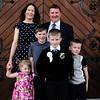 Communion boy Ian Lambe & family