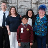 Communion boy Jeffrey Rolston Sohel & family