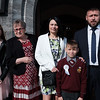 Communion boy Sebastian Mowinski & family