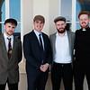 Actors Mark Lynch, Cillian Farrell, Glenn Kavanagh & Ronán Damery, actors, at the Sirius Arts Centre Cobh