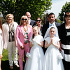Communion girls Saoirse & Cara Linehan & family