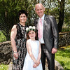 Communion girl Louise Buckley & family