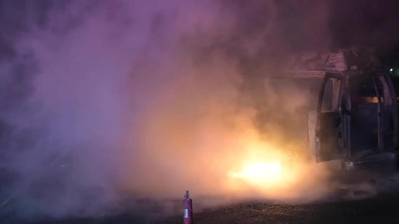 East Farmingdale Van Fire Near Propane Storage- Paul Mazza