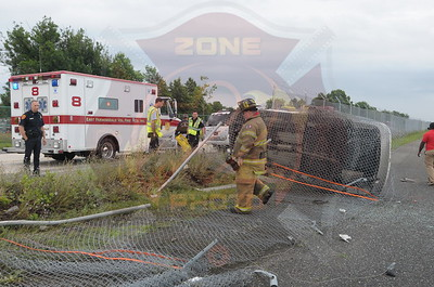 East Farmingdale Mva w/ Overturn New Highway into Republic Airport and MVA w/ Car Into Tractor Trailer Car Carrier I/F/O 122 Allen Blvd. 7/16/14