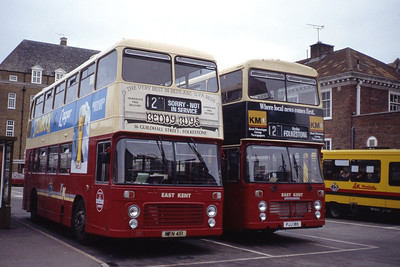 East Kent 7041_7018 Folkestone Bus Stn Aug 91