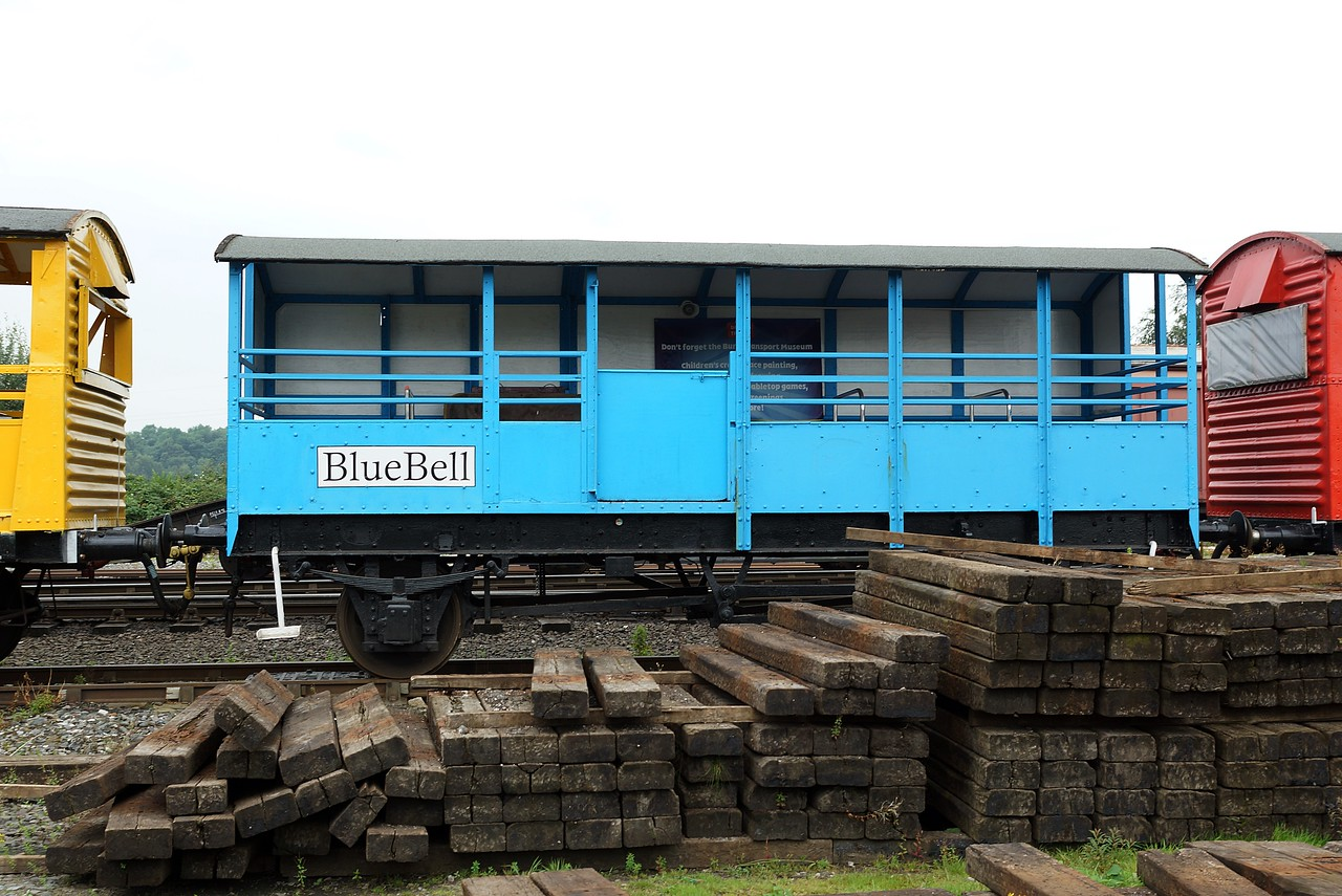 BR 950606 'Bluebell' Ex Brake Van Kitted Out To Carry Passengers 27,08,2016