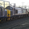 A spot of luck as 37602 + 37259 pass through Crewe with 6C53 Crewe - Sellafield with 1 flask