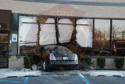 East Meadow F.D. MVA w/ Car Into Building 1 Merrick Ave. 11/22/09