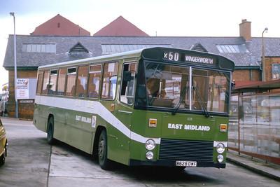 East Midland 628 Chesterfield Bus Stn Jun 86