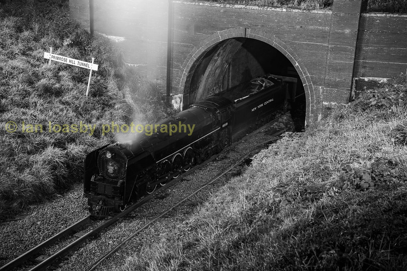 Alco 'Niagara' class 4-8-4 no 6019 at Primrose Hill Tunnel