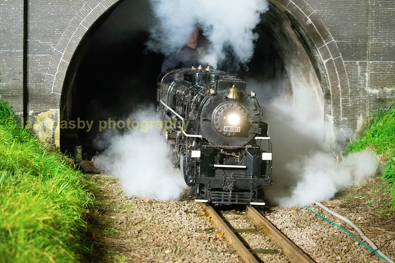 "Nickel Plate Road 765 is a 2-8-4 "" built by the Lima Locomotive Works in Lima, Ohio  the railway version is seen exhiting Primrose Hill Tunnel"