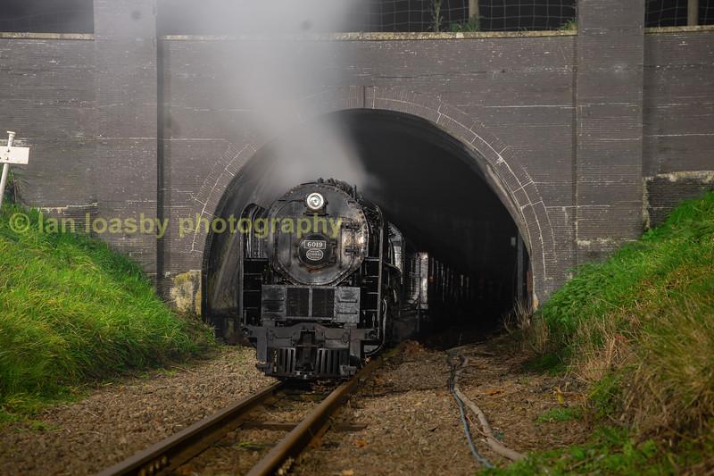Alco 'Niagara' class 4-8-4 no 6019 at Primrose Hill Tunnel