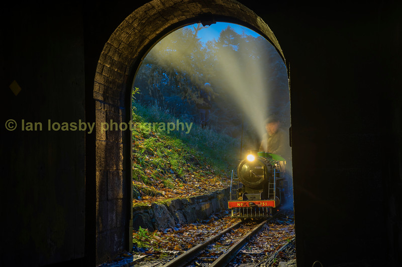 Curwen Atlantic 4-4-0 no 751 about to enter box tunnel