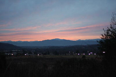 View of a section of Alcoa looking towards the Smoky Mountains