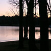 winter sunset at the lake