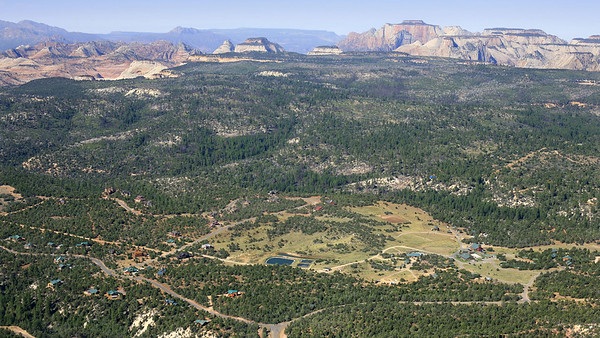 Zion Ponderosa Aerial View
