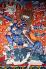 Choijin Lama Temple Complex, Ulaanbaatar, Mongolia.  The wealth of detail in most of these silk paintings is astonishing, as the following two edits show.