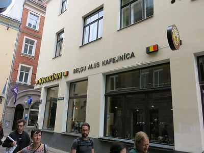 Belgian beer cafe in Riga