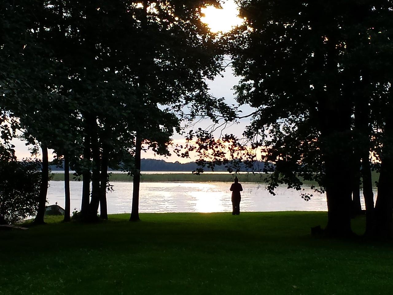 Sofie walking to the lake
