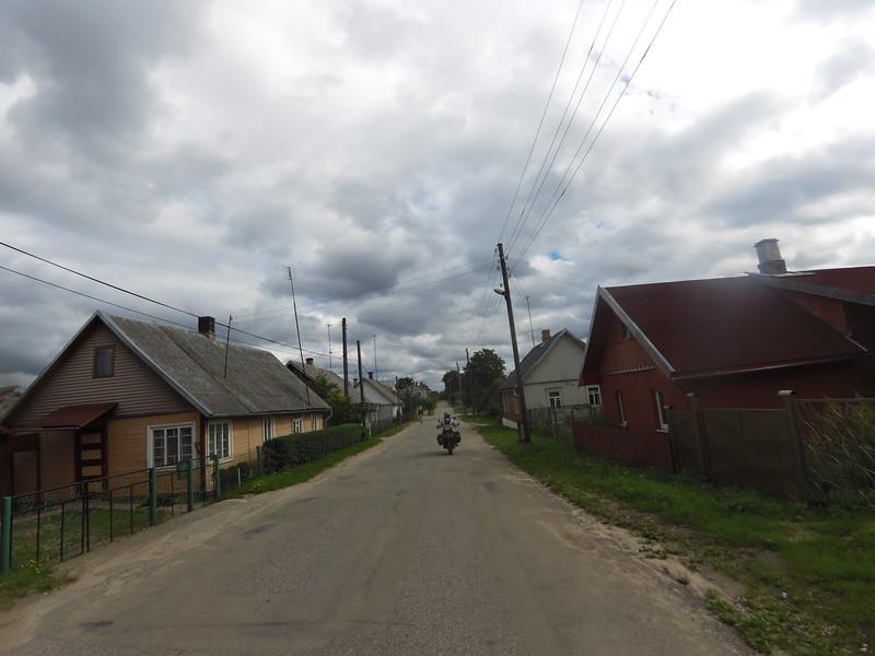 Crossing a Latvian village
