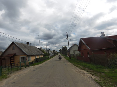Crossing a Latvian village