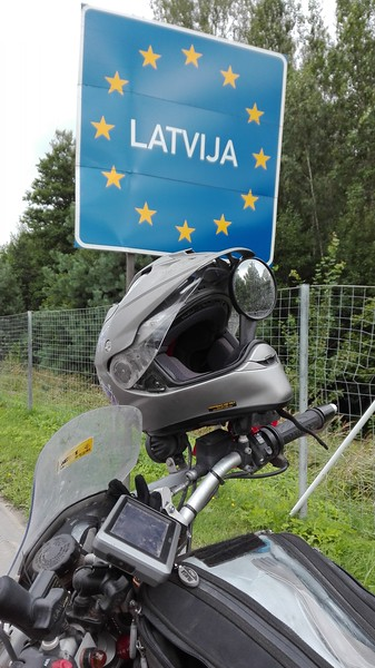 Entering Latvia