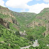 Geghard Monastery overlooking the valley