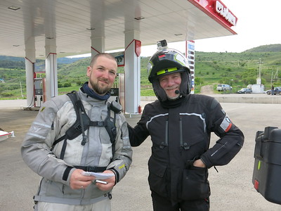 Meeting Leandro after crossing into Georgia