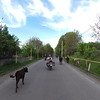 Riding towards a hotel with Leandro, our new Italian friend