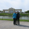 Sofie and Jo in front of Gloriette