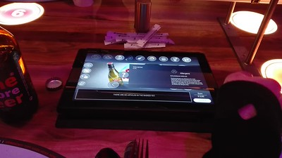 Self-service orders at rollercoaster restaurant in Vienna