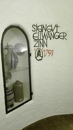 Cellar restaurant way down underground at -2 in Ellwangen
