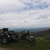 One big trike in front of a big view