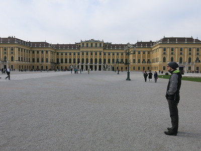 In front of Schönbrunn castle