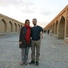 Posing on one of the many lovely bridges of Esfahan