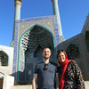 In front of the mosque in Esfahan