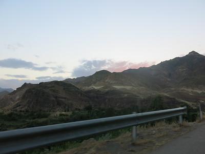 Beautiful sunset on the Iranian mountains