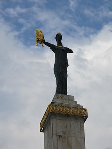 Justice statue in front of the Batumi constitutional court