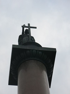Alexander Column at the Palace Square in St Petersburg