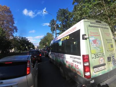 Marsjroetka bus in Saint Petersburg