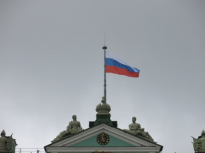 Flying the Russian colors