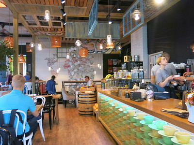 Inside Market Place, the most trendy fast food joint in town