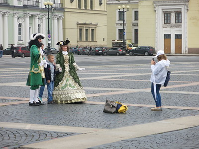 Posing with Peter the Great