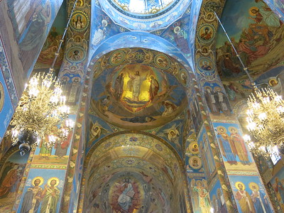 Inside the Church of Our Saviour on Spilled Blood