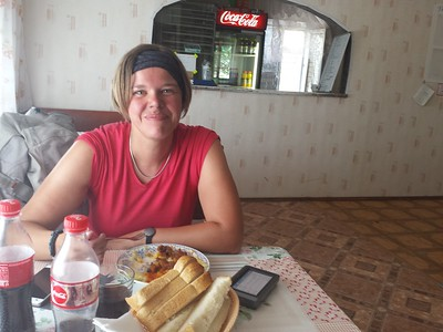 Lunch break at a trucker's cafe: Goulash and Kotleti.