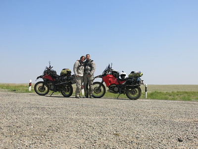 Posing in the steppe