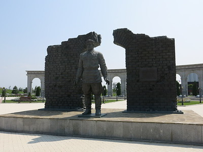 War memorial on the road side in Inghusetia