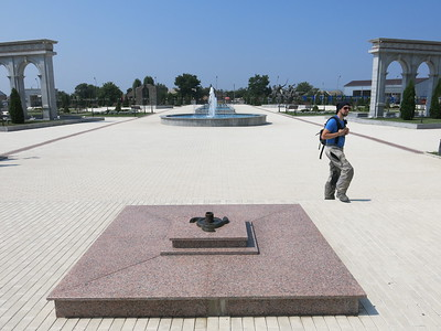 Eternal flame at Inghusetian war memorial
