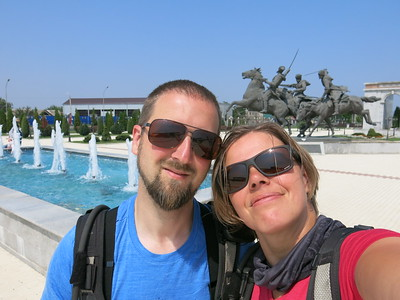 Selfie at Inghusetian war memorial